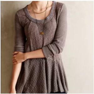 Meadow Rue gauze crochet 3/4 sleeve top